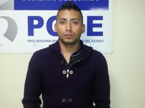 Bryan Iván Escobar Carrillo de 23 años de edad, detenido por el delito de homicidio calificado y robo de vehículo de motor.