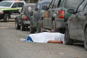 Foto Cortesía  El cuerpo del hombre que fue ultimado en Valle Verde