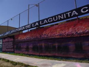 """Mural """"Tú también puedes salvar la lagunita"""""""