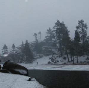 Intensa nevada de 5 pulgadas de grosor
