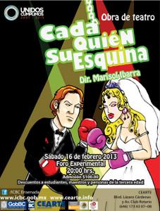 Sábado 16 de febrero, 20:00 horas, costo 100 pesos