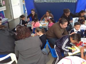 """Alumnos del jardín de niños """"Cámara junior"""" participaron en la II feria del libro 2013."""
