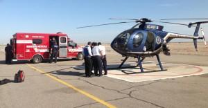Fueron trasladados al Aeropuerto de Mexicali a bordo del helicóptero de la PEP para recibir atención médica