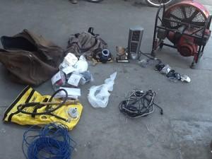 Objetos robados en las oficinas de bomberos