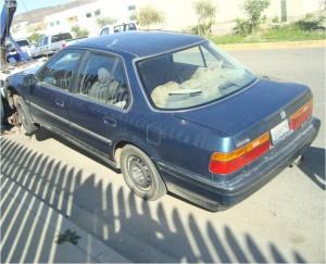 Honda Accord con placas 2VQH125-Con reporte de robo en Tijuana