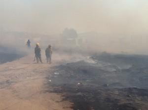 incendio en la colonia emiliano zapata provoco movilisacion de la dspm y bomberos (1)